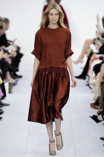 apparently burgundy's the new black. Nina Garcia says so! Chloe