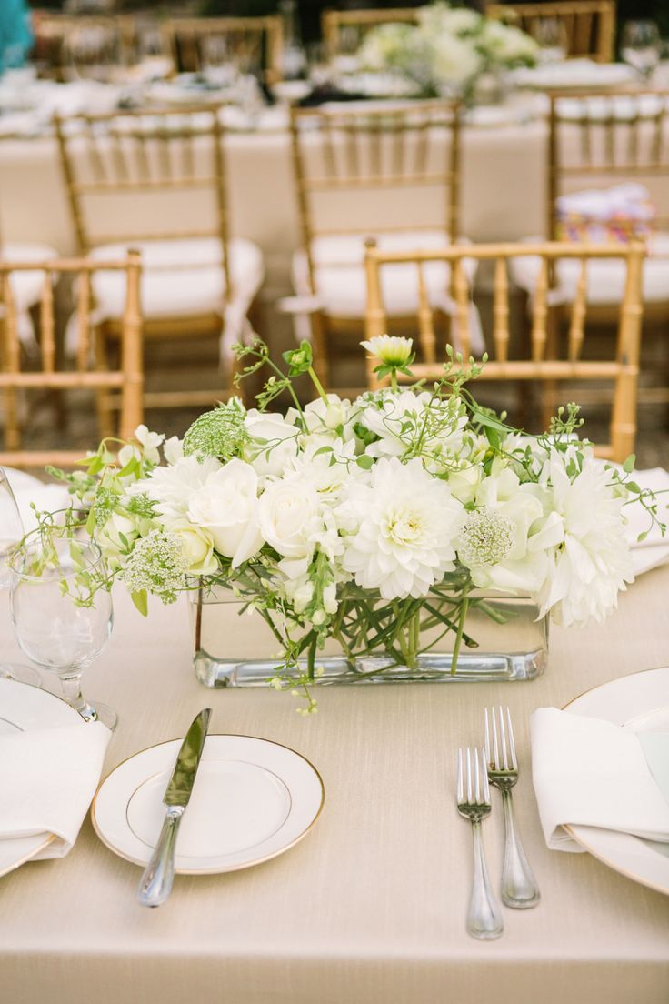 17 best ideas about wedding head tables on pinterest for Dinner table flower arrangements