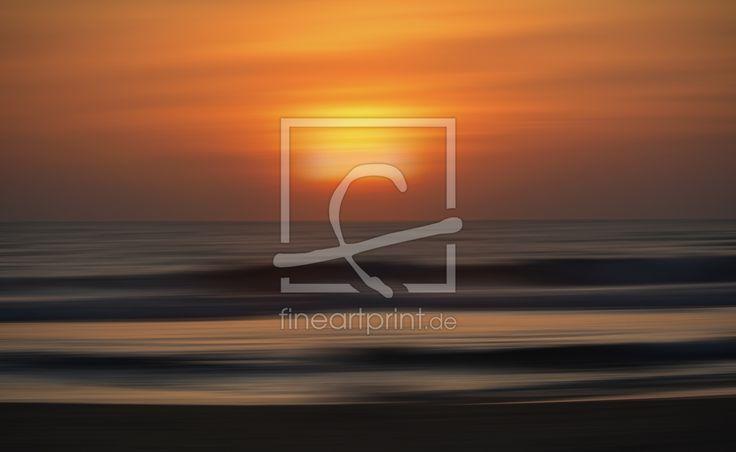 Sonnenuntergang abstrakt Poster, Leinwandbild, Tapete Meer, Sonnenuntergang