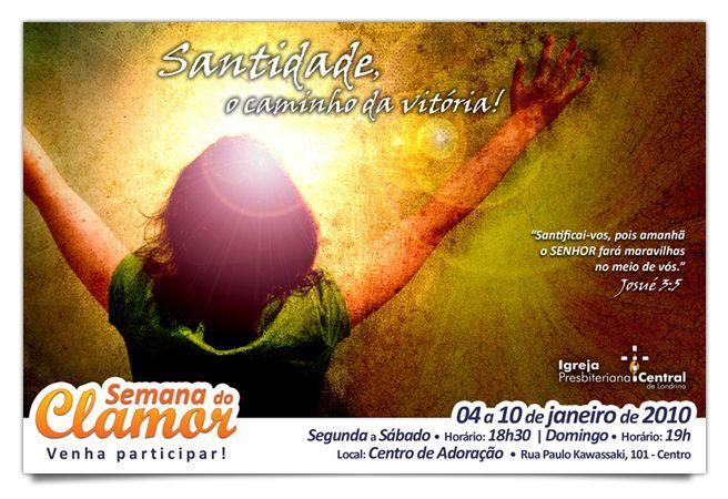 FLYER • redesign da identidade visual da campanha e criação de conceito + materiais da campanha janeiro/2010    Igreja Presbiteriana Central de Londrina    2010 • Londrina/PR