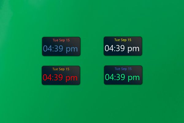 how to have a digital clock on desktop win 10