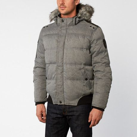 Sherpa Lined Down Bomber // Grey (XS)