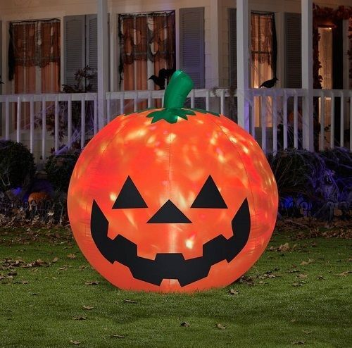 Air Blown Pumpkin Halloween Lawn Decoration Light Up Party Yard Jack o Lantern