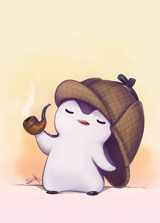 Картинки няшного пингвина