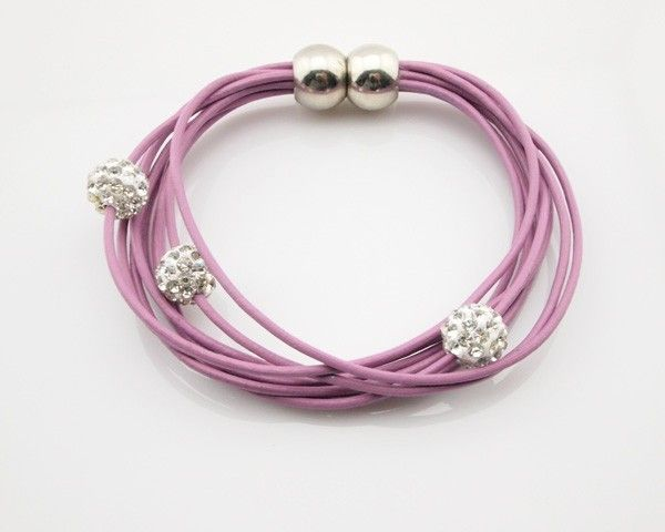 Grey&Pink Multi Layer Bracelet