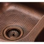 SINKOLOGY Kitchen Sink 3.5 in. Strainer Drain with Post Styled Basket in Antique Copper-TB35-01 - The Home Depot