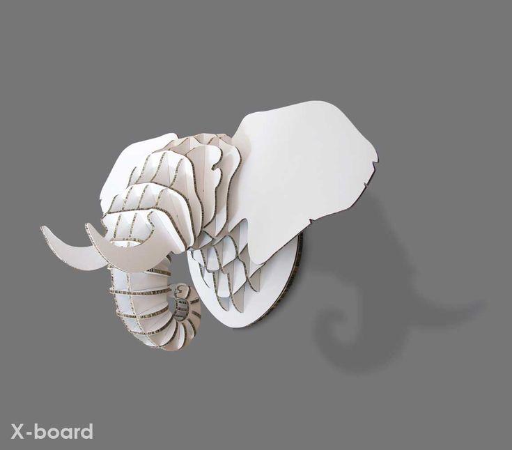 Medium Xanita board elephant trophy head