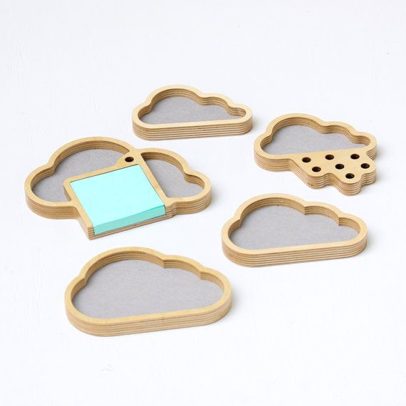 Complete Cloud Storage Set of desktop organizers: by OhDierLiving