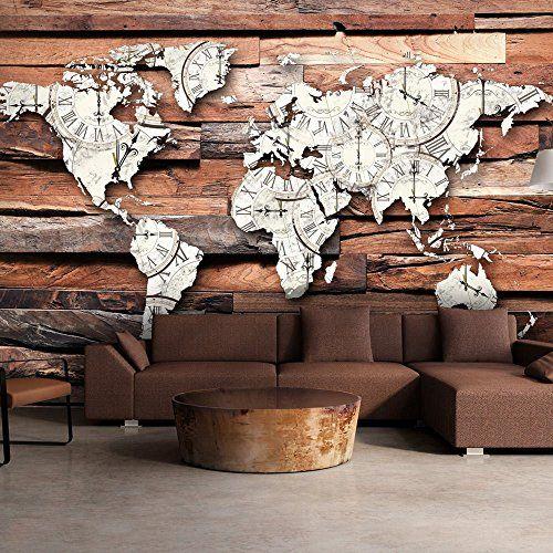 Fotomural original del mapa mundial sobre tablones de madera - http://vinilos.info/producto/fotomural-original-del-mapa-mundial-sobre-tablones-de-madera/ Fotomural original del mapa mundi. Impresión del fotomural en alta calidad   #HabitaciónJuvenil, #Oficina, #Salón   #decoracion