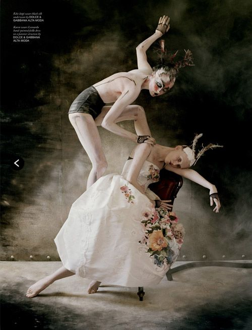 Karen Elson and Edie Campbell // by Tim Walker // styled by Katie Grand & Sandy Powell // Love F/W 13.14 - The Lion King