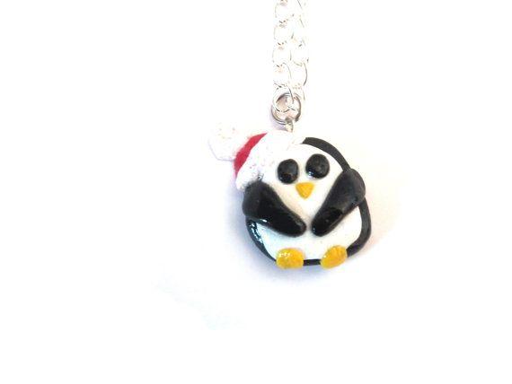 Penguin Necklace Penguin Jewelry Kawaii Penguin by LittlePandahugs