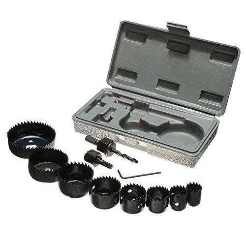 Vzer 11Lot de 19–64mm en acier carbone Scie-cloche perceuse Bois porte en métal perçage Outil de découpe kit: Price:12.7211en 119-64mm…