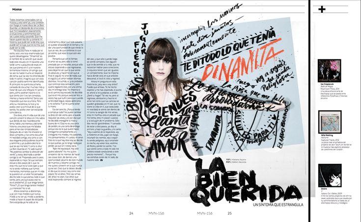 Música: La Bien Querida  #editorial #LaBienQuerida  #lettering #calligraphy #handlettering #editorialdesign #brushpen #graphicdesign #letteringintervention