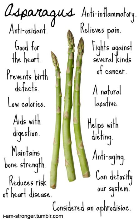 Asparagus Health Benefits // A great infographic! #healthyhints