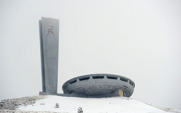 House of the Bulgarian Communist Party on Mount Buzludzha in central Bulgaria
