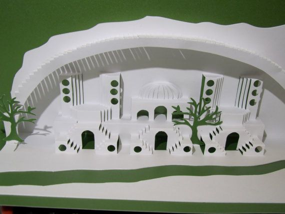 Home Decoration 3D Pop up Card ORIGINAL Origamic by BoldFolds