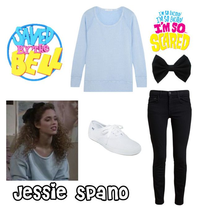 """Saved by the Bell: Jessie Spano"" by daniellejacobs79 ❤ liked on Polyvore featuring Proenza Schouler, James Perse and Keds"