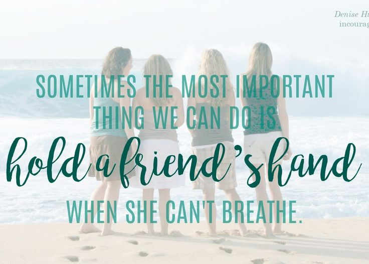 For When You Can't Breathe and You Really Need a Friend - (in)courage