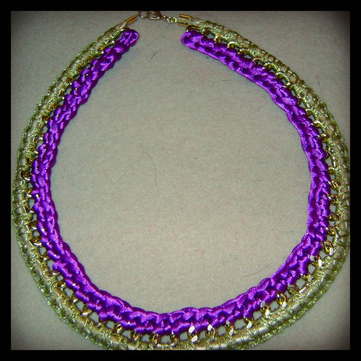 My own #DIY project #vasiakrist chain and crochet necklace