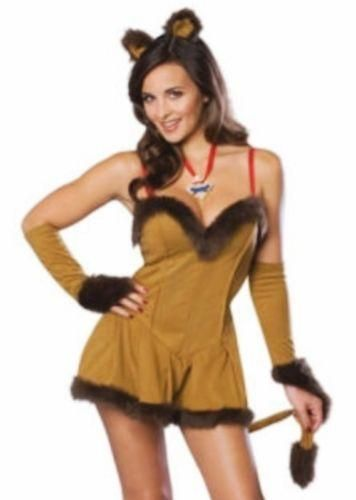 New Halloween Cowardly Lion Lioness Wizard of Oz Sexy Adult Costume Size- Medium