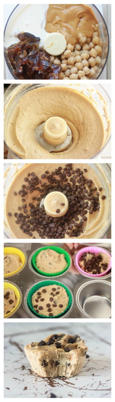 flour-less cookie dough freezer fudge cups! Sound delicious ! ... smooth ice cream texture and only takes 10 minutes to make...!! Plus they are full of protein, refined sugar free, syrup free, and made vegan by using vegan chocolate non dairy milk! #flourless #vegan-option #healthy