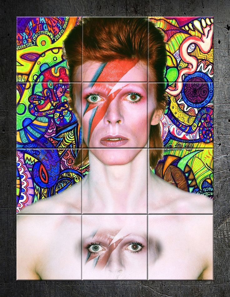 David Bowie limited edition wall art mosaic ceramic tiles numbered and signed