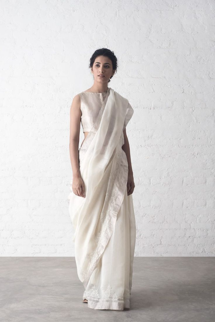 RAJKA SAREES A limited edition festive collection of chanderi sarees with accents of chikankari and mukaish embroidery. #Saris #Sarees #GoodEarthSustain