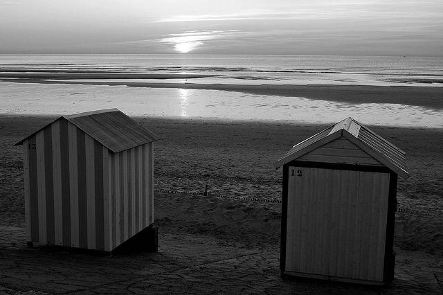 Sunset at Saint Cécile Plage.