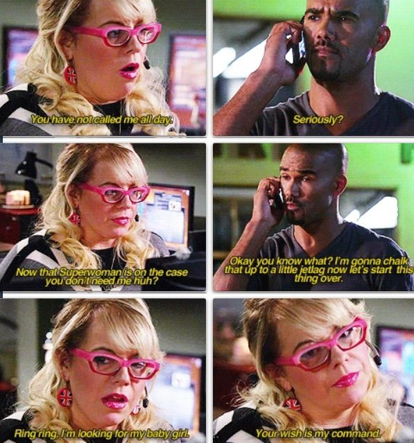 Penelope Garcia and Derek Morgan...someday I will have a friendship like this...I really need one right now but watching criminal minds will have to do for now