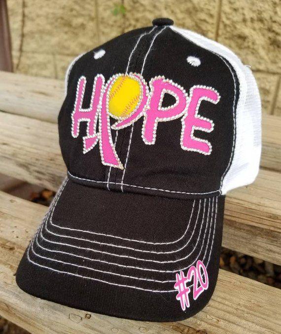 2feeaa0f19552 Softball Breast Cancer Awareness Hats