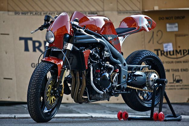 Weslake' is based on a T509-spec Speed Triple - Olivi Motori - BikeEXIF