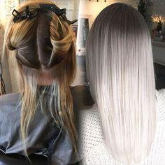 """Smokey Platinum Part 1 ✨ Hair by @hairbyac_alcorn @necessalon. """"I began by apply...   Use Instagram online! Websta is the Best Instagram Web Viewer!"""