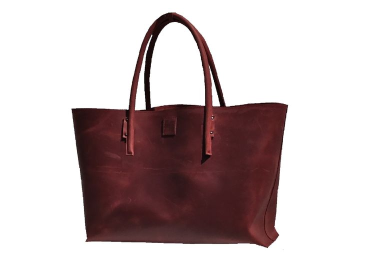 XXL Leather Shopper Extra Large Leather Bag Weekender Leather Purchase Bag Half-rigied used look handmade