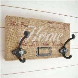 burlap double wall hook