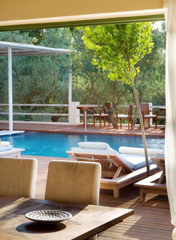 The villa's infinity pool