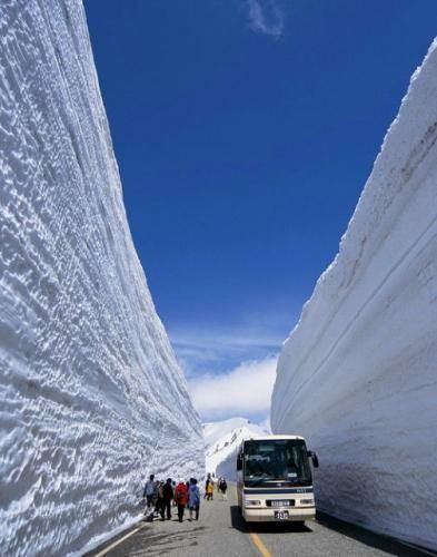 Now that is deep snow. Meanwhile, in Norway. . .