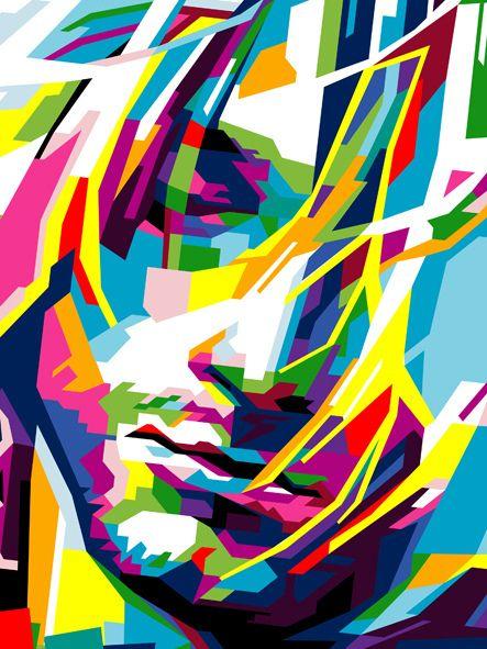 https://flic.kr/p/dAPysq   KURT COBAIN WPAP close up   WPAP (Wedha's Pop Art Portrait) by Rizky Dion