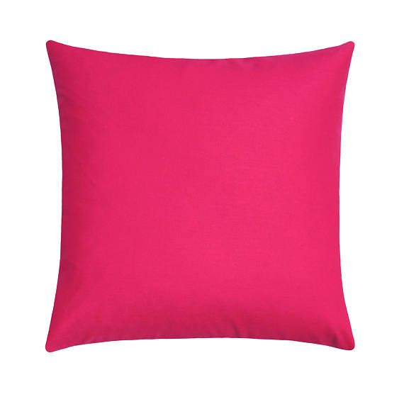 This modern hot pink linen blend pillow cover is a must have for your room ! Easily incorporated in any style, this designer pillow cover will add a splash of color to any room. Contents 55% Linen/45% Rayon Washing Instructions: Machine Wash Gentle/Tumble Dry Low **********The