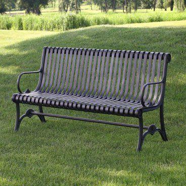 Nice Outdoor Metal Bench