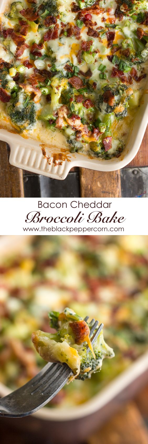 Bacon Cheddar Broccoli Bake - added 3 cloves garlic and ritz crackers. Sauce was thick. Try adding more milk?