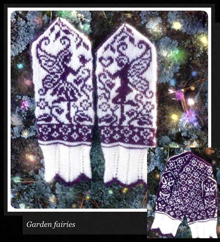 Love these fairy mitts Ravelry: Garden fairies pattern by JennyPenny