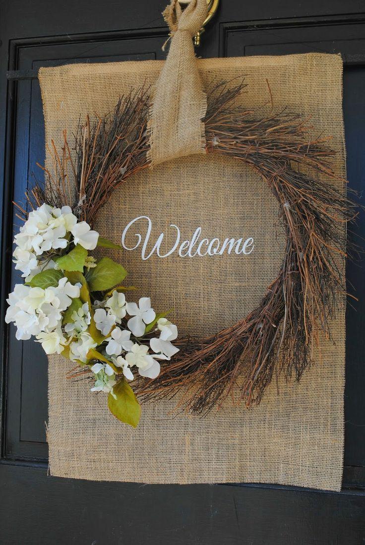 114 best diy spring decor images on pinterest silhouette school diy front door spring wreath diy spring burlap wreath flowers rubansaba