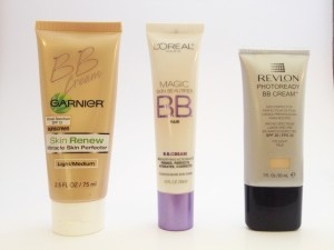 Three top BB Creams compared.  I tried the Garnier BB cream today.  I like it!  Lightweight, light coverage, feels great, nicely reflective and evened my skin out, even blemishes and scars looked diminished.  I'm gonna skip trying the Loreal one and jump right to blogger's favorite, the Revlon Photo Ready one for a little more coverage!