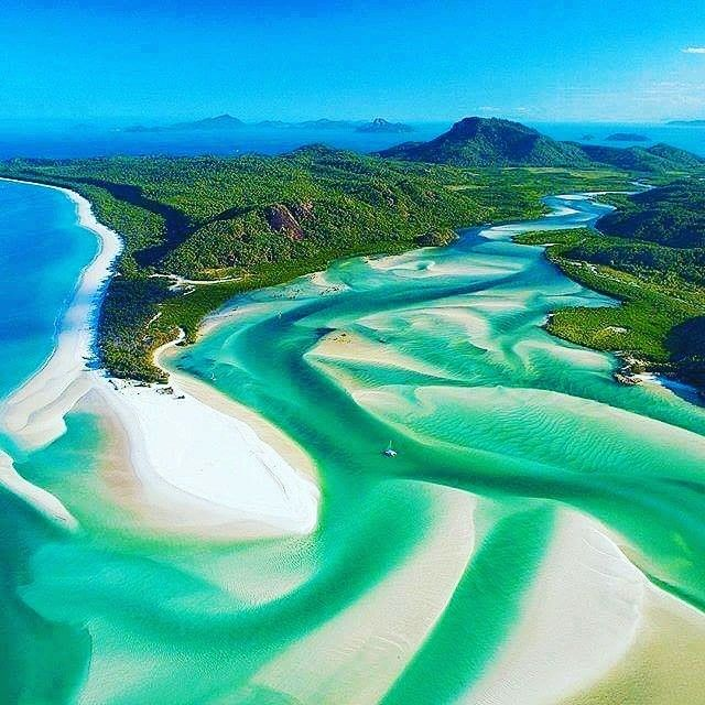 Hill Inlet, Withsunday Islands, Queensland, Australia.