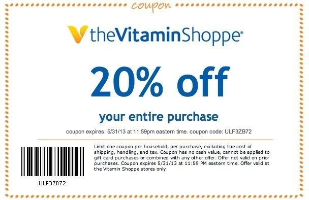 picture regarding Vitamin Shoppe Printable Coupon referred to as Vitamin Shoppe Coupon codes Vitamin Shoppe: 20% Off Printable