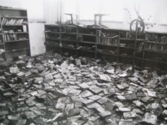 Total loss of books in library was 20 000 books.