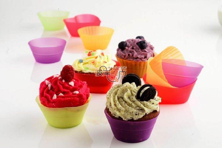 MaFen cup 7CM muffin pan mini bakeware ice cream chocolate mold 100% food-grade silicone cake mold 6pcs/set