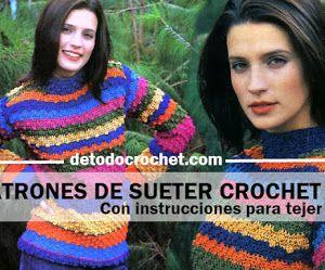 Padrões de camisola de crochê feminino / passo a passo