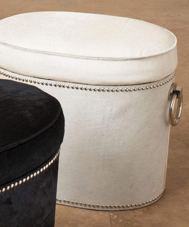 Chalis Cowhide Ring Bench / Ottoman - FURNITURE - Seating - Ottomans