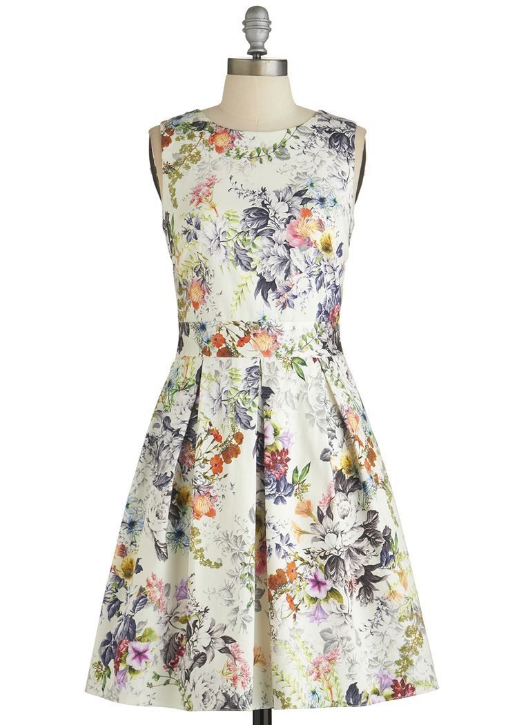 Make the Rounds Dress in Country Bouquet. While prepping for tonights work event, you remember that even the best networkers need an eye-catching garment to set them apart from the crowd.  #modcloth